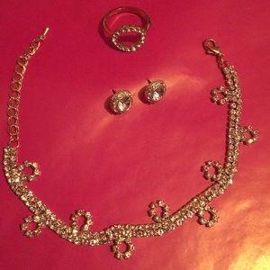 Jewelry - Gold Rhinestone Bracelet